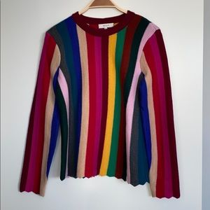 Milly wool striped sweater